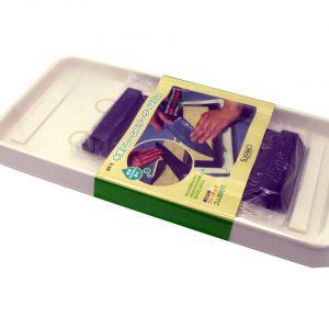 Kit per affilare i coltelli da cucina giapponesi composto da supporto per la pietra e vassoio raccogli gocce del produttore Suehiro