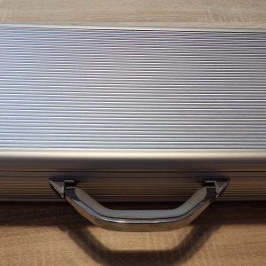 Valigia porta coltelli in alluminio silver media