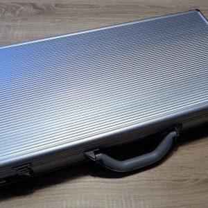 Valigia porta coltelli in alluminio silver large